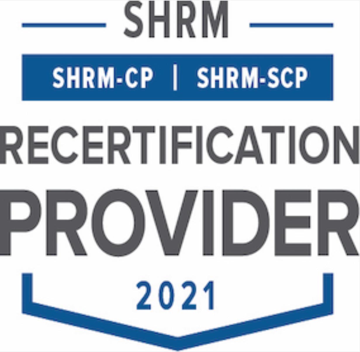 2021 SHRM Recertification Provider